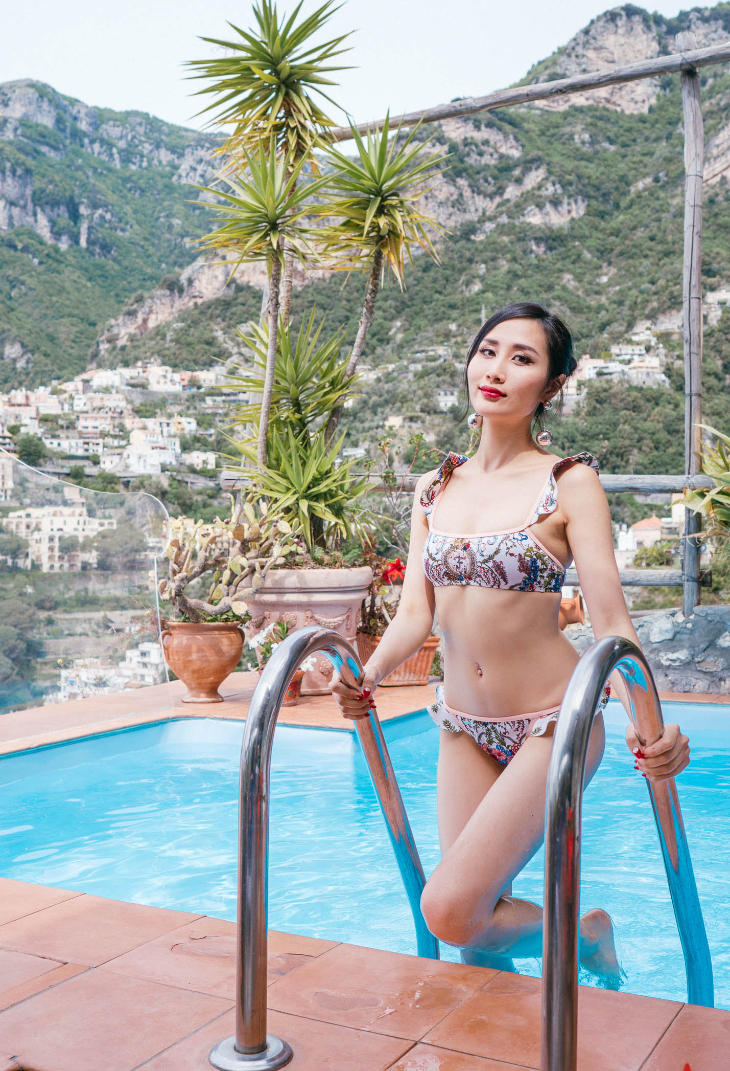 Tina Travels: Fendi Ruffle Bikini and Breakfasts With a View in Positano, Italy | Of Leather and Lace