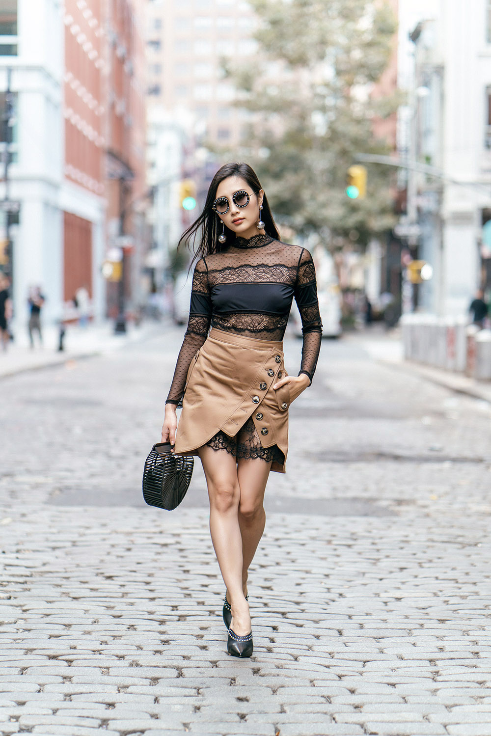 How To Wear Mules This Fall | Of Leather and Lace - A Fashion Blog by Tina Lee | Mule Outfits, Mule shoes, Mule heels